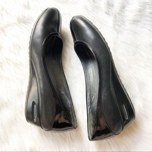 Cole haan nike air black wedge shoes size 7 1/2